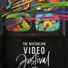 Cover of the catalogue for the 2nd Australian Video Festival, 1987. [Image by Video Paint Brush Company].
