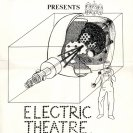 Poster for Bush Video Electric Theatre. Drawing by Mick Glasheen.  (1974)