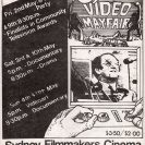 Front side of the 4th Video Mayfair (1980) programme.
