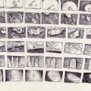 story board from 'Living on the Comet' 1993,