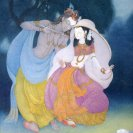 Frank Wesley 'Krishna and Radha' 1982, watercolour,