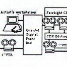 "Diagram illustrating the set up used by Jean Marc le Pechoux in making his work ""If Then"", in the Scanlight exhibition."