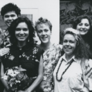 Founding members of Boomali were: Michael Riley, Bronwyn Bancroft, Jeffrey Samuels, Fiona Foley, Tracey Moffatt, Arone Meeks, Euphemia Bostock, Avril Quail, Brenda L Croft & Fernanda Martens.