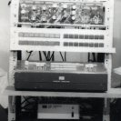 The rack with the video synthesiser used for the SPK recordings.