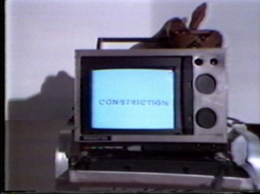 Still of title sequence from Constriction part 1.