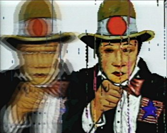 Frame from Neo Geo: An American Purchase (1989). (c) Peter Callas.