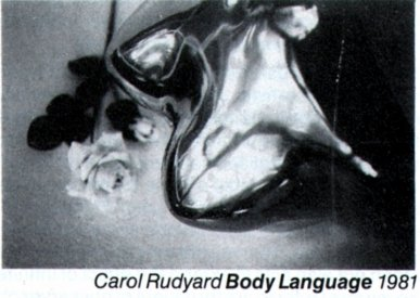 Catalogue image from Carol Rudyard's Body Language (1981), one of the installations at the Art Gallery of NSW.