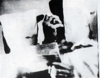 Catalogue image, from Video/Culture catalogue, for Jenny Crone and Peter Giles: Relentless Pursuit of Terror (1986)