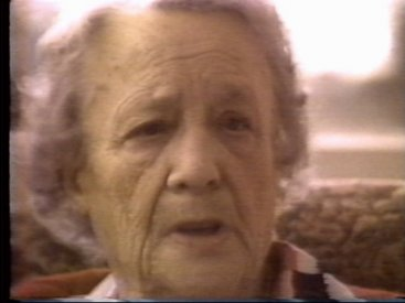 Elsie Mae during one of the preparatory interviews used in the video.