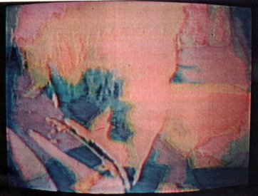 Still frame from Bruce Tolley's Light's Square Mile. Videotapes from Australia catalogue image.