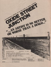 Flyer for a showing of Oxide Street Junction at the Sydney Filmmakers Coop. (1979)