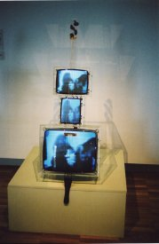 The TV Cello in the 2004 reprise exhibition at the AGNSW (photograph: Stephen Jones)