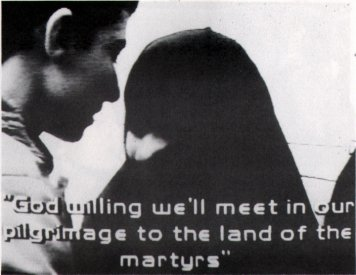 Catalogue image, from Video/Culture catalogue, for Bob Plasto: Paradise of Martyrs (1986).