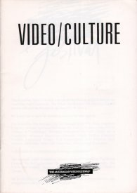 Catalogue cover for Video/Culture.