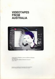 The cover for the Videotapes from Australia - North American tour
