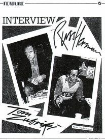 The image page leading into the interview Feature in Access Video, vol.4, no.5.
