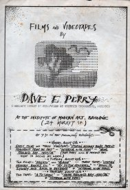 The flyer and program for David Perry's showing at the IMA, Brisbane, August, 1976