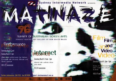 Cover of Matinaze 96 program.