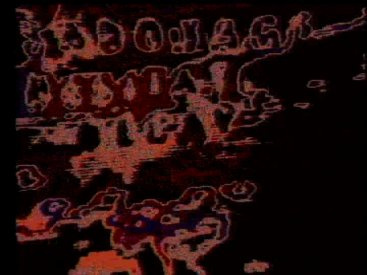 Frame from Sapbotage Hesitates Decay (3 Texts, 1977)