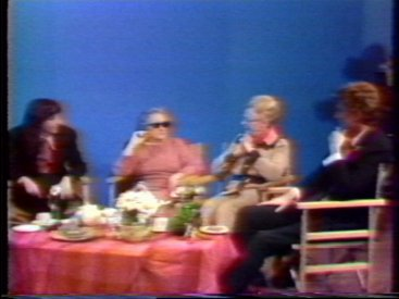 (l-r) Carole Sklan, Grandma Rose, Lottie and Kimble Rendall during a studio sequence.